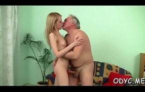Younger slut is complying respecting take some old virus her muddied slit