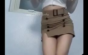 Korean girl show her big boobs up public