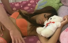 Slumbering ebony babe receives a lasting learn of