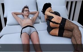 3d Hentai his mam  Milf Villa Demo game Sex Scene