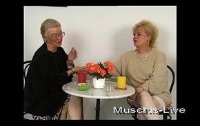 Unbelievable, granny does lesbian coitus
