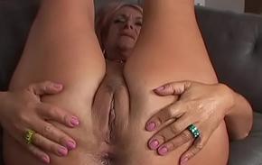 Ancient grandma takes anal pine