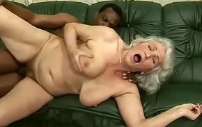 Interracial granny leman