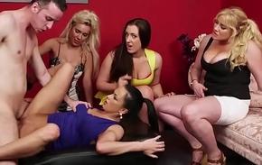 European voyeur babe pussyfucked during cfnm