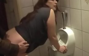 German Mom get in favour Fuck from Young Son vulnerable the toilet