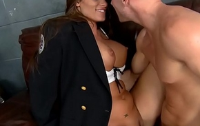 Slutty constable (Madelyn Marie) investigates some big flannel - BRAZZERS