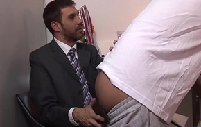Mature confessor drills cute twink from behind in fetch bar