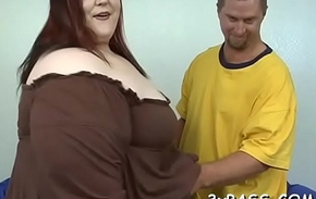 Heavy glamorous woman creampie