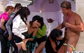 Young non-professional honeys enjoy an amazing sexual intercourse party skit