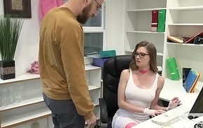 Gorgeous Office Whore Gets Destroyed By Random Guy Off the Internet
