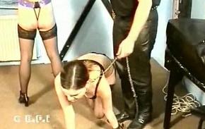 Bdsm teen slave licking her mom