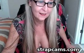 X granny with glasses On Webcam Teasing