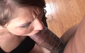 Housewife takes Blackzilla together with squirts hither