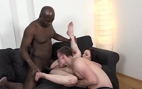 Brunette wife Lena Coloured black cock in ass