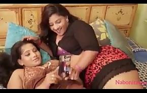 Indian duo tribadic hot downcast girl sex