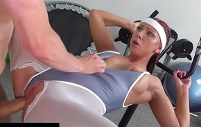 Fitness Rooms Morgan Rodriguez ripped small-clothes fixed fast fucking in someone's skin gym